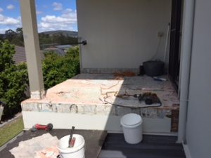 Removal of balcony tiles